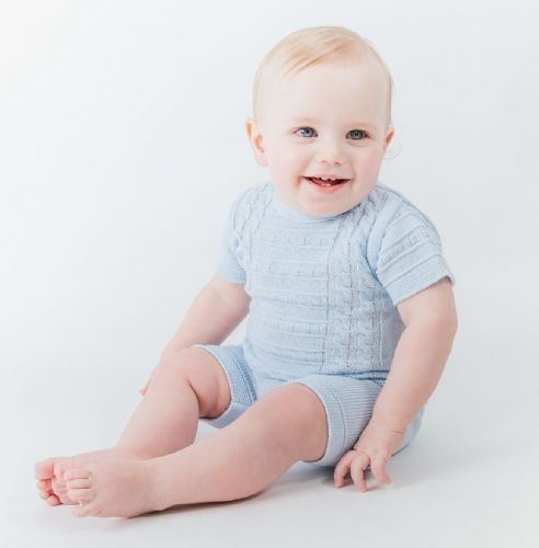 A1526  Boys knitted Top & Shorts